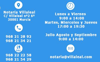 horario notaría murcia Javier Alfonso López Vicent y Don Miguel Ángel Moreno Escribano